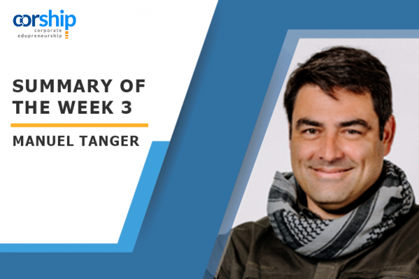 Summary of the week 3 by Manuel Tanger